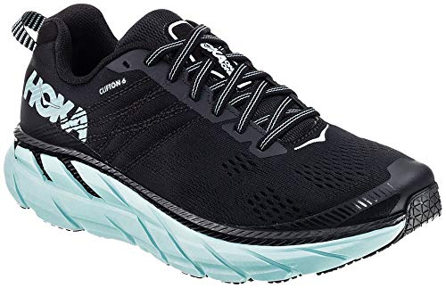 Hoka Clifton 6,Zapatillas de Running por Mujer, Negro (Black/Acqua Sky - BASY),...