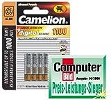 Micro-Akkus CAMELION Ni-MH, 1100mA, Typ AAA, 1,2V, 4er-Pack
