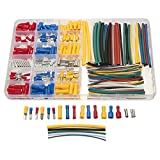 Masunn 350PCS PVC assortiti connettori + scatola di polietilene tubi termorestringenti kit