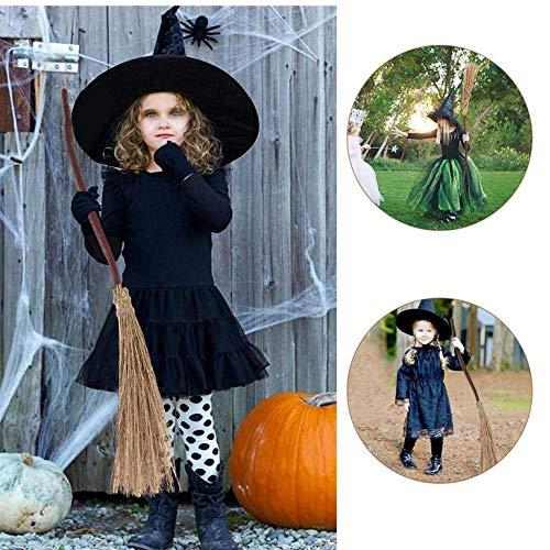 wnddm Lustige Besen Dustpans Fantasy Hexe Besen Hexe Zubehör Creeping Weed Broom für Home Halloween Kostüm Party (Home Hexe Kostüm)