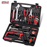 Apollo Precision Tools 53 Piece Household and Garage Tool Kit including Hack Saw, Sockets, Wire Strippers, Combination Pliers, Adjustable Spanner and Tin Snips - in Heavy Duty Case