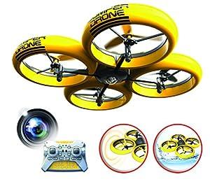 SilverLit Bumper Drone con cámara HD, 84813, Amarillo