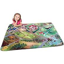 """Casa de Niños (hov0p) """"granja"""" Ultra suave alfombra, multicolor, 130x 180x 0,76cm"""