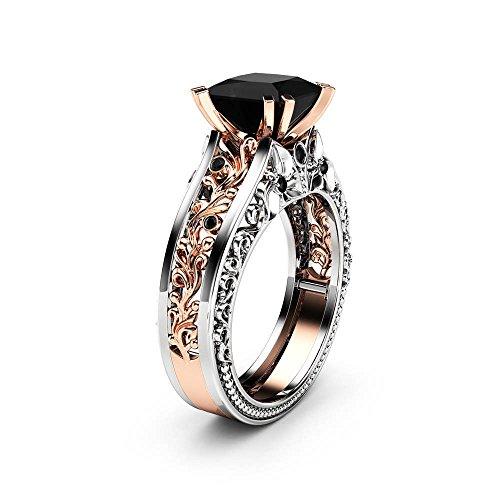 UFODB Diamant Ringe Für Damen Diamant-Ring Gold Mit Diamanten Ring Verlobungsring Solitärring Diamantring Brillianten Hochzeitsringe Freundschaftsring Verlobungsring - Diamant-hochzeit Ring-sätze Gold