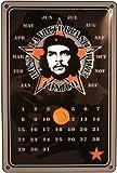 Blechschild geprägt Kalender TOXICO Zigarre mit Markierungsmagnet 20 x 30 cm Reklame Retro Blech 495