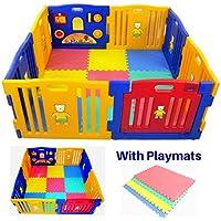 Parque infantil Millhouse de plástico con panel de actividades y con alfombrillas de juego incluidas