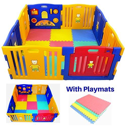 Parque infantil Millhouse de plástico con panel de actividades y con alfombrillas de juego incluidas multicolor XIHE0005
