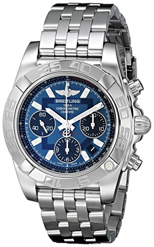 Breitling Men's AB014012/C830SS Chronomat 41 Blue Dial Watch