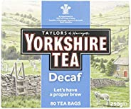 Taylor'S Of Harrogate Yorkshire Decaffeinated 80 Tea Bags, 250 g