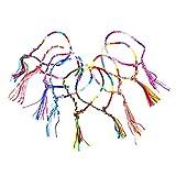 Frcolor 9pcs Handgemachte Geflochtene Thread Freundschaft Armbänder Handgelenk Fußkettchen (zufällige Farbe)