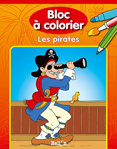 Bloc à colorier - Les pirates