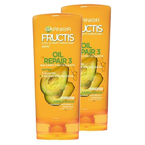Garnier Fructis Spülung Oil Repair 3Für Trockenes Haar, Geladene und ausgeschaltet-Auf Basis Von 3nahrhafte Öle: Olive, Avocado und Sheabutter-200ml-3Packungen von 2Einheiten - Olive Avocado