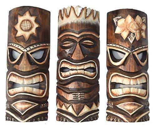 i Masken 30cm im Hawaii Style 3er Set Holzmaske Wandmaske Osterinsel ()