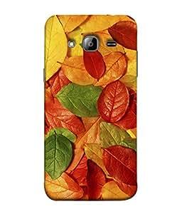 FUSON Designer Back Case Cover for Samsung Galaxy J3 (6) 2016 :: Samsung Galaxy J3 2016 Duos :: Samsung Galaxy J3 2016 J320F J320A J320P J3109 J320M J320Y (Nature Colour Big Lotus Leaves Network Of Veins)