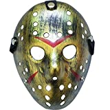 Boolavard Horror Halloween Costume Hockey Mask Party Puntelli Cosplay Maschera (Oro)