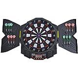 Homcom® Elektronische Dartscheibe Dartboard Dartscheibe 27 Spiele Sound 12 Pfeile