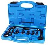 TecPo Ventilfederspanner Set | KFZ & Motorrad Ventilfeder Spezialwerkezg | Stabiler Kunststoffkoffer