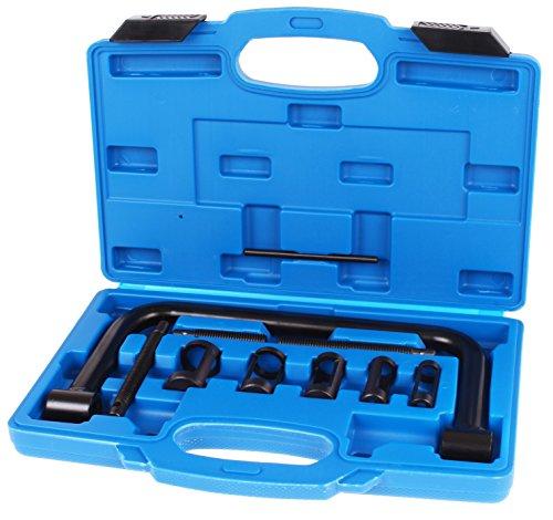 TecPo Ventilfederspanner Set   KFZ & Motorrad Ventilfeder Spezialwerkezg   stabiler Kunststoffkoffer