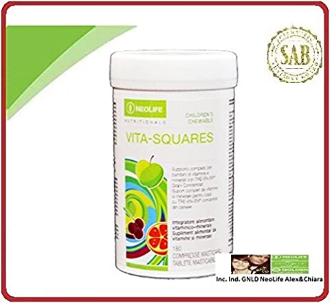 NEOLIFE VITA SQUARES (180 tabs. Often supplements hey are useful: if the child does not feed in a complete manner, with a balanced intake of all foods, including fruits and vegetables)