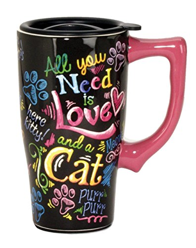 Spoontiques Cat Travel Mug, Multicolor by Spoontiques