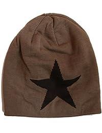 Winter Sterne Strickmütze Feinstrick Mütze gefüttert