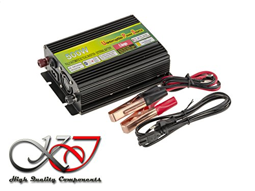 Konverter Spannung Changer 12V in 220V (Inverter AC - DC) - Leistung 500W - Funktion UPS: Stromversorgung Continue (Uninterruptible Power Supply) Dc Power Inverter