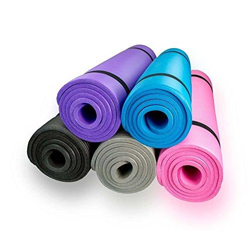 diMio Yogamatte Gymnastikmatte rutschfest mit Tragegurt, phlatatfrei + SGS-geprüft
