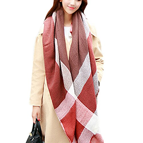 vlunt Veste d'hiver classique écharpe longue écharpe Oversize doux Châles écharpes pour 088-09