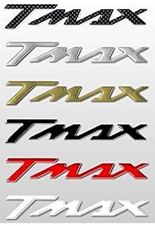 PROTEZIONE MARMITTA PARATIA CROMO T-MAX 500 530 2007-2016 LOGO 3D NERO TRICOLORE