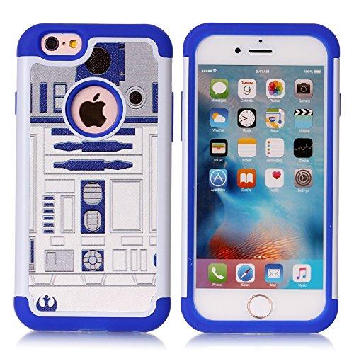 iPhone 6S Schutzhülle, iPhone 6Fall-Fashion Muster Dämpfung Hartschale PC und Innen Silikon Hybrid Dual Layer Rüstung Defender Schutzhülle für Apple iPhone 6iPhone 6S, R2D2 Robot (6 Iphone Hybrid-rüstung Fällen)