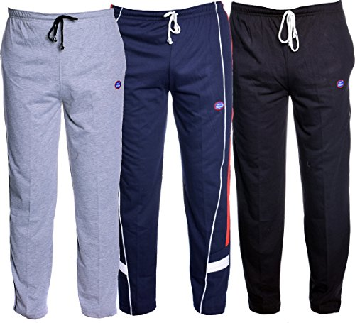 VIMAL Men's Cotton Trackpants (Pack of 3)