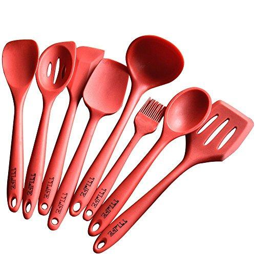 ttlife-premium-espatula-de-silicona-utensilios-de-cocina-8-piezas-con-turner-espumadera-cuchara-cuch