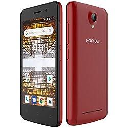 Konrow City Smartphone Débloqué (4 pouces, 8Go, 1Go de Ram, Double Sim, Android 8,1) Rouge