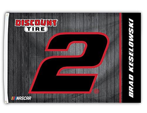 Brad Keselowski # 22018Nummer 3x 5Flagge Tüllen W/Outdoor House Banner Nascar Racing - Heavy-duty-outdoor-banner