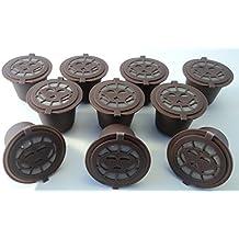coffee2u rellenable de cápsulas de café para Nespresso–10monodosis de café–(reutilizable, para todas las máquinas de Nespresso desde después de octubre de 2010)