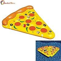 marketboss Cool delicato Pizza kickboards Piscina gonfiabile Zattera galleggiante con portabicchiere --- 1,8x 1,5m, ideale per bambini o adulti Enjoying tavoletta tempo libero