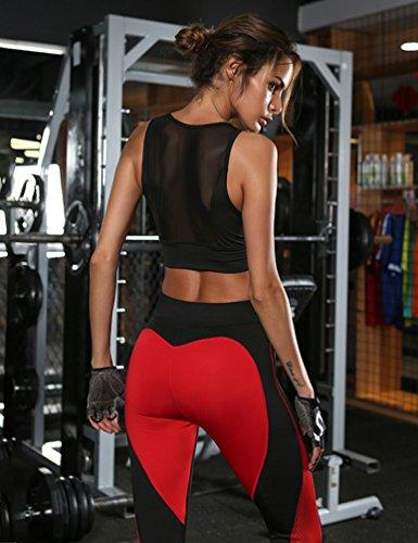 YAANCUN Donna Elastico Stretch Leggings Pantaloni Per Le Jogging Di Pantaloni Ciclismo Come l'immagine 1