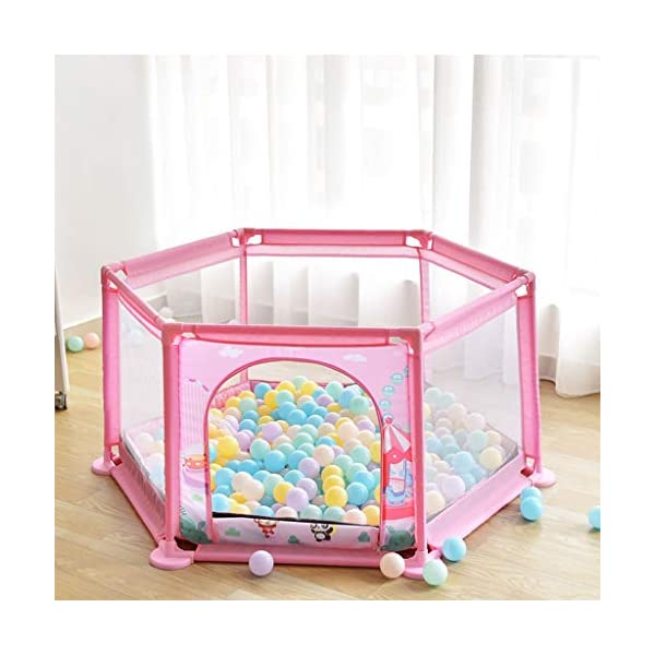 Playpens ,6 Panels Portable Foldable Folding,Children's Play Fence Home Drop-proof Baby Indoor Toddler 145 * 65 * 77cm (color : B) Playpens ★ hexagonal children's fence, size: 147 * 65 * 77cm, applicable number: 2~3 people, applicable age: 5 months to 3 years old, material: ABS angle PVC connector Oxford cloth net ★Playpen is the baby's little world, several small baby can play a role inside the game, play house, such a space, the ability to exercise various aspects of your baby, your baby is no longer playing outside all day makes the body dirty just trouble ★Are you a lot of toys for your baby makes a mess at home to worry about? In fact, is an oversized toy fence saving cabinet, you can put your baby's toys on the fence, usually to let your baby play in the fence, that meets the baby playing on the mind, but also to maintain a clean and tidy home 4