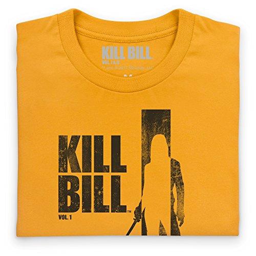 Official Kill Bill Vol 1 Distressed Dark Logo T-Shirt, Herren Gelb