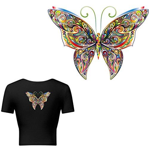 Nysunshine DIY Weihnachtsmuster, Schmetterling, Aufbügeln, T-Shirt, Kleid, Wärmeübertragung, Aufkleber DIY