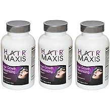 3xbottle de pelo Maxis Suplemento apoyo crecimiento más rápido más sano más suave evita pérdida de cabello