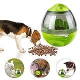 Yokunat Distributore cibo per cani , Pet Treat feeder Ball food dispenser interattivo giocattoli per cani e gatti regali perfetti per animali forma ovale (verde)