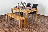Esstisch Wooden Nature 117 Eiche massiv geölt - 140 x 90 cm (B x T)