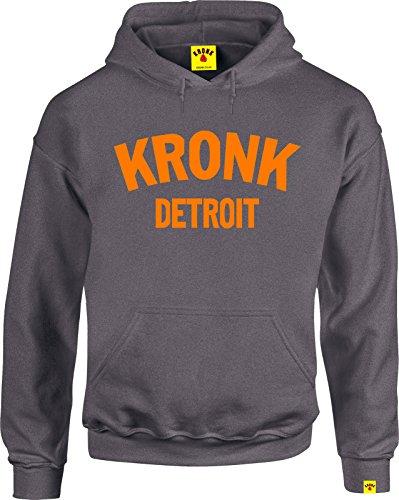 Kronk Detroit sudadera con capucha para hombre de manga larga para entrenamiento deportivo boxeo Gris CharcoalOrange Medium