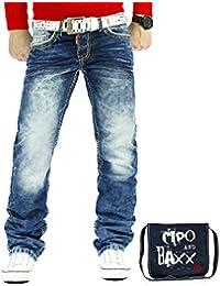 Cipo & Baxx Herren Jeans Mens Pants Freizeit-hose Clubwear Dicke Naht inkl. Tasche