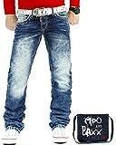 Cipo & Baxx Herren Jeans Mens Pants Freizeit-hose Clubwear Designer Style Top 30W / 30L Blau