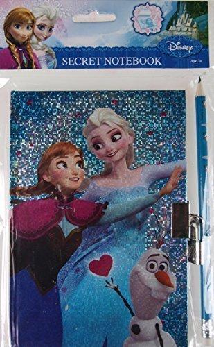 Disney Frozen AZUL Secreto Del Diario diario Libro Y Juego De Pinturas - Con Candado Y Llave