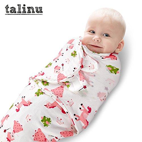 TALINU rosa Pucksack aus 100 % Baumwolle mit praktischem Klettverschluss - Motiv