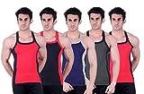 Zimfit Superb Gym Vests - Pack of 5 (RED...