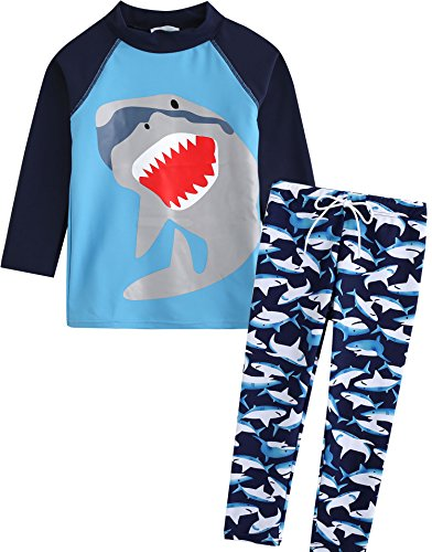 Vaenait Baby 86-122 Jungen Rashguard Badeanzug Ohne Kappe 2pcs Set Cooling Jaws XL